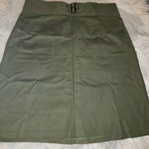Worthington Olive Skirt